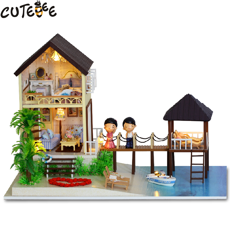 CUTEBEE Doll House Miniature DIY Dollhouse With Furnitures Wooden House Toys For Children Birthday Gift best tours A-027 cutebee doll house miniature diy dollhouse with furnitures wooden house toys for children birthday gift home decor craft m017