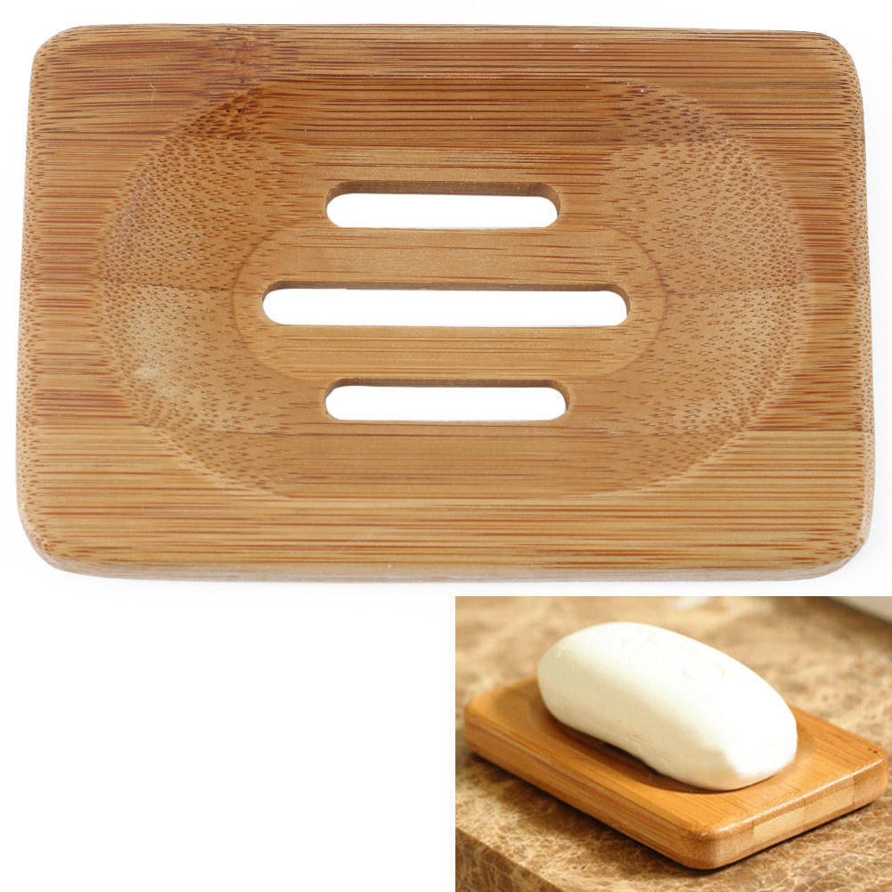 wooden soap dish storage container case plate box holder saucer shower bath wash