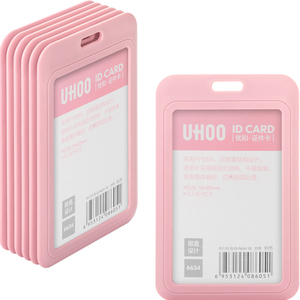 Image 4 - 12pcs/lot UHOO 6633 6634 Quality Name Badge Holder ID Card Cover Identity Card Holder Badges with Neck Lanyard wholesale