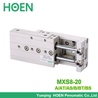 MXS8 20 MXS8 20AS MXS8 20A MXS8 20AT MXS8 20B MXS8 20BT MXS8 20BS Air Slide Table Double Acting Pneumatic Cylinders MXS
