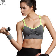 B.BANG New Women Sports Bra Push Up Breathable Bra for Running Fitness Workout Gym Underwear Crop Tops for Women 6 Colors(China)