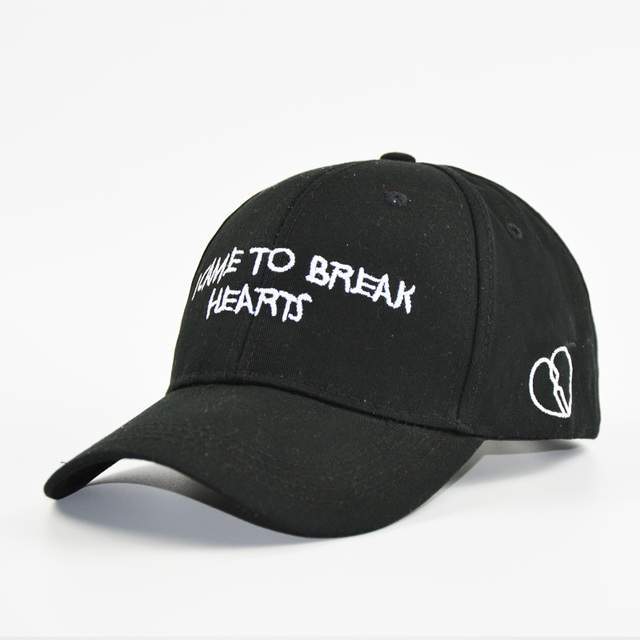 00add3c7b US $5.7 40% OFF|2019 Dad Hats Baseball Caps for Men and Women Letters BREAK  HEARTS Black White Cap Men -in Baseball Caps from Apparel Accessories on ...