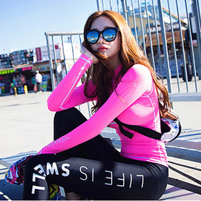 2018 NEW ARRIVAL LETTER Surf Rashguard Women Swimsuit z długim rękawem Nowość Surfing Baths SEXY & SOFT Suits with high & best quailty