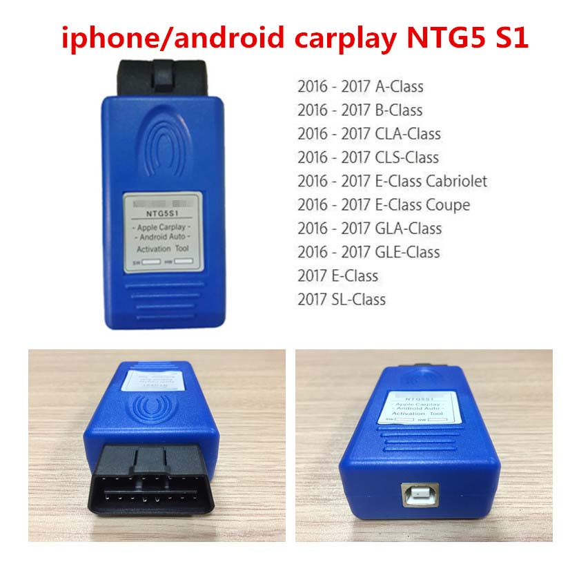 NTG5 S1 Apple CarPlay Android Auto Activation Tool For 2015-2018 Mercedes Benz Safer Way To Use IPhone/Android Phone In The Car