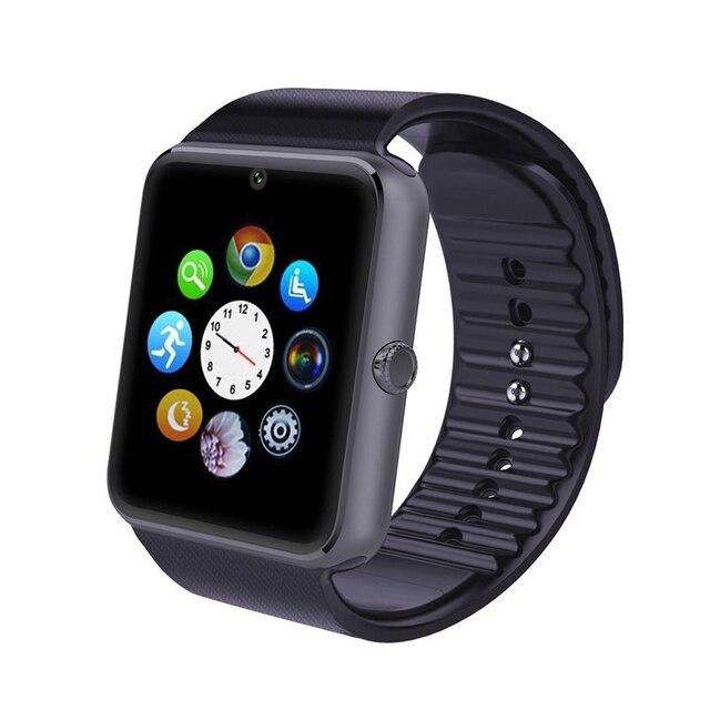 GT08 Smartwatch Smart watch Bluetooth Часы Синхронизации Notifier Поддержка Sim-карты Подключение Bluetooth для Ios Iphone Android Телефон