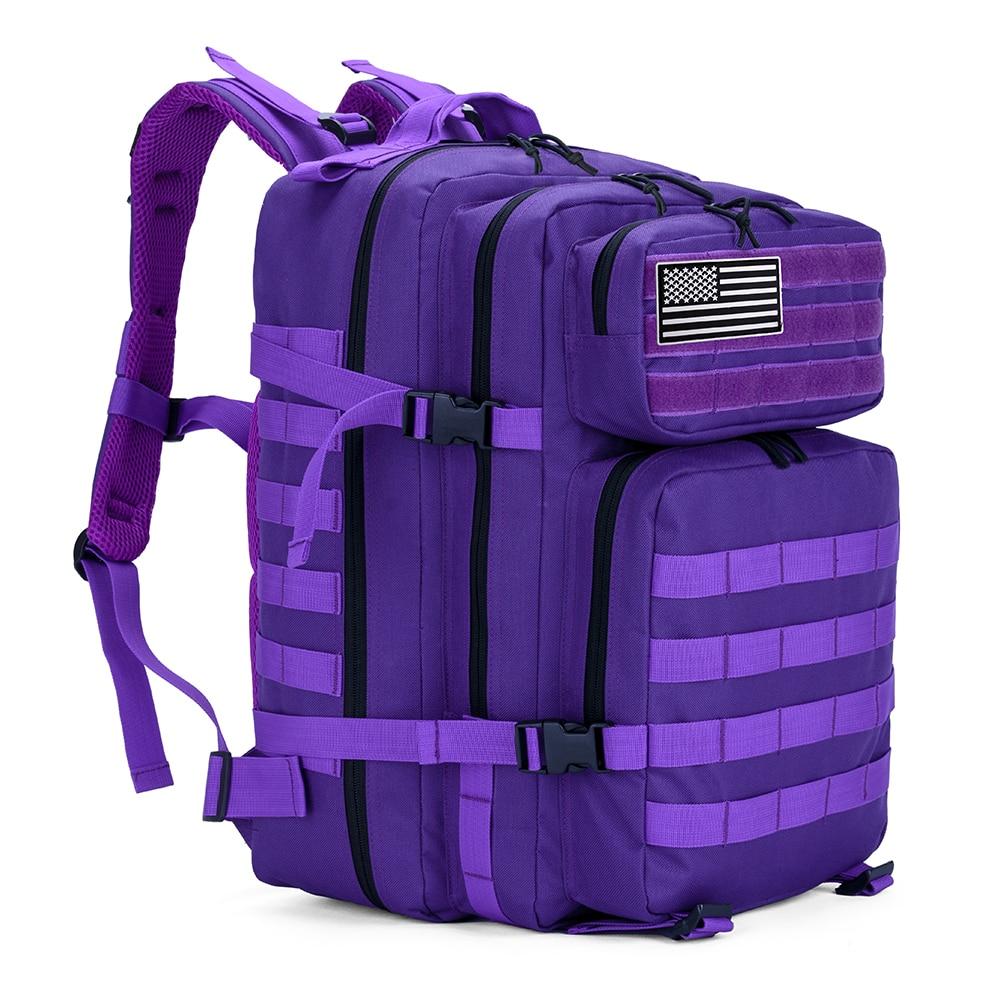 45L hombre/mujer senderismo Trekking bolsa militar mochila táctica ejército impermeable Molle Bug Out bolsa de viaje al aire libre Camping mochila