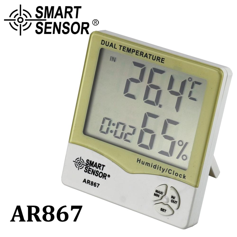 LCDデジタル湿度計温度計湿度温度計ウェザーステーション屋内屋外店舗機能ウェット&ドライクロックアラーム
