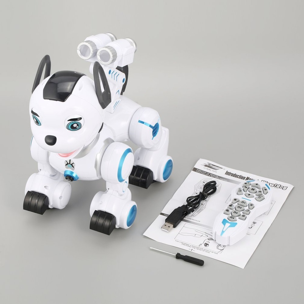 K10 Smart RC Dog Dance Head Spin Blink Patrol Remote Control intelligent Robot Dog Electronic Pet Toy Kid Gift hot sale short plush chew squeaky pet dog toy