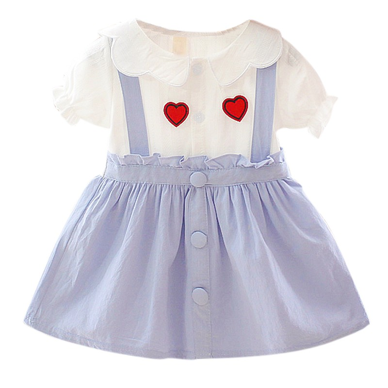 Summer Newborn Baby Girl <font><b>Dress</b></font> for Girl <font><b>Birthday</b></font> <font><b>Dress</b></font> New Cute Fake <font><b>2</b></font> Piece Baby <font><b>Dress</b></font> Infant Clothing Toddler <font><b>Dresses</b></font> 0-3Y image