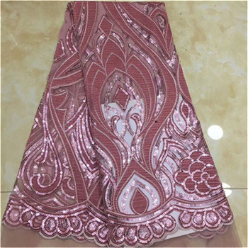 Latest Nigerian Lace Fabric Sequin velvet Embroidery Organza Lace Fabric High Quality African French Lace Fabric For Wedding