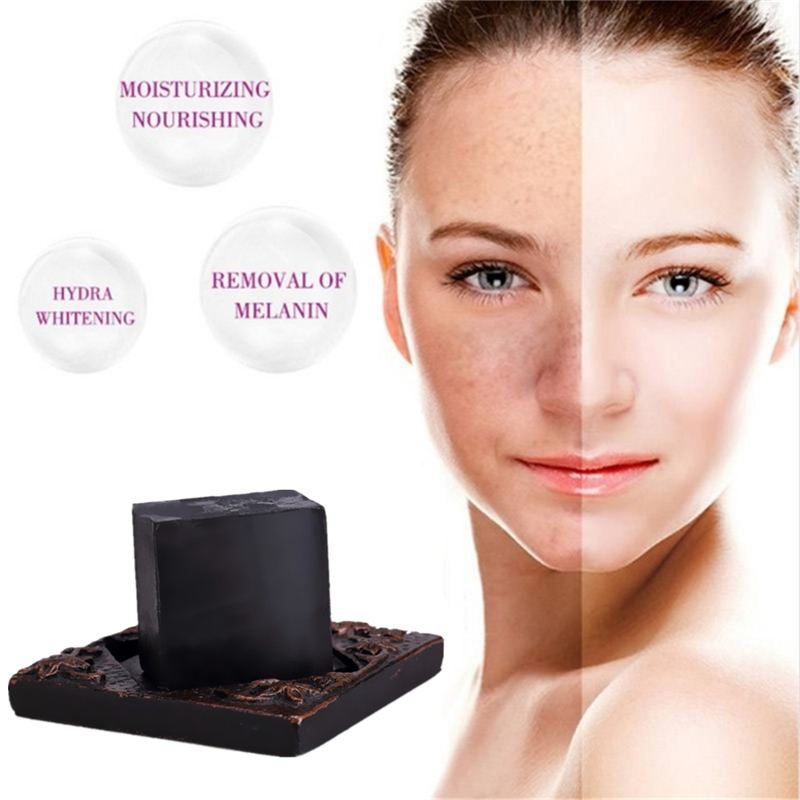 1PCS Bamboo Charcoal Suction Black Head Crystal Smooth The Skin  Whitening Soap Scar Repair Acne Treatment Shrink Pores Cleaning