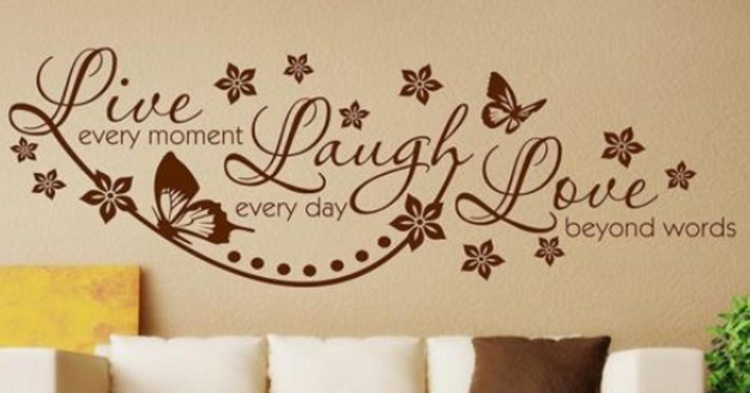 Vinyl Live Laugh Love Wall Art Sticker Lounge Room Quote Decal ...