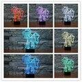 Envío Libre Lindo Ponygirl Unicornio 3D Precioso Perro Lámpara de Escritorio Lámpara de Noche LED de Iluminación con multi-colores como Niños regalos