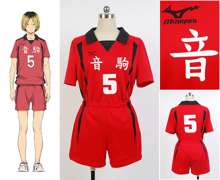 Haikyuu!! Nekoma High School NO 5 NO1 Kenma Kozume Team Jerseys Club T Shirt Shorts Anime Cosplay Costume Full Set