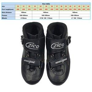 Скоростные роликовые коньки 3*125 мм роликовые коньки для катания на колесах ZICO Профессиональные коньки для гонок для детей и взрослых SH52