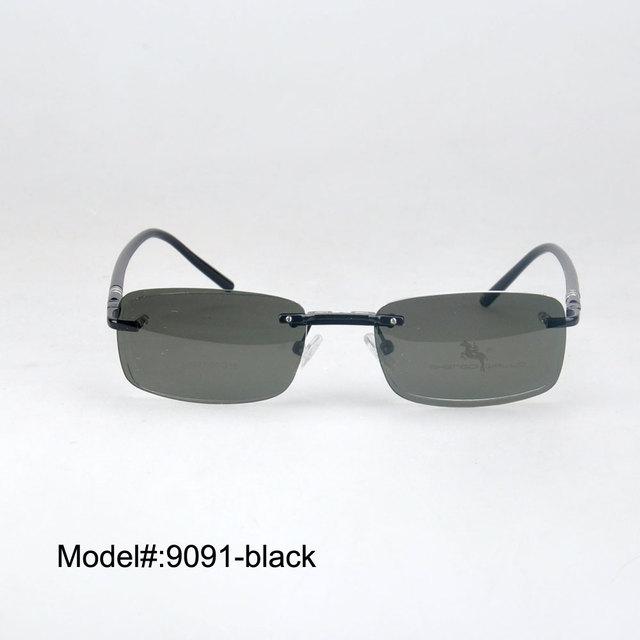 S9091 Rimless magnetic clip on sunglasses men polarized clip on sunglasses sunshades sun glasses