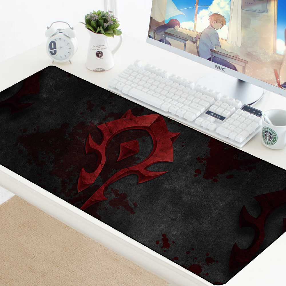 WOW Gaming Mouse Pad Speed Locking Edge Large Natural Rubber Waterproof Game Desk Keyboad Mousepad Mat For Dota LOL For Computer