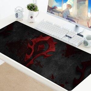 Image 2 - Welt von Warcraft Gaming Mauspad Speed Locking Rand WOW Große Natürliche Gummi Wasserdicht Spiel Schreibtisch Keyboad Matte für Dota Computer