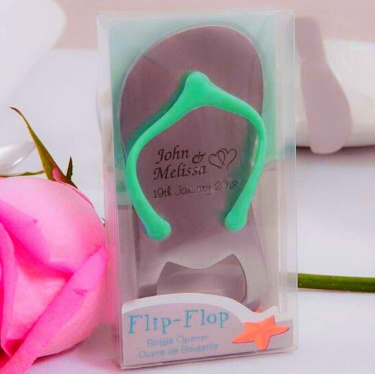 1e340c518059 50pcs Customized LOGO Flip-flop Wine Bottle Opener Beach Themed Wedding  Favors Personalized Gift For Guest wen4335