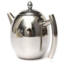 1L Edelstahl Teekanne Kaffee Tee Kalt Infuser Wasserkocher Mit Mesh Filter Sieb Für Tee Werkzeuge