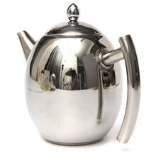1L Stainless Steel Teapot Coffee Tea Cold Infuser Kettle With Mesh Filter Strainer For Tea Tools