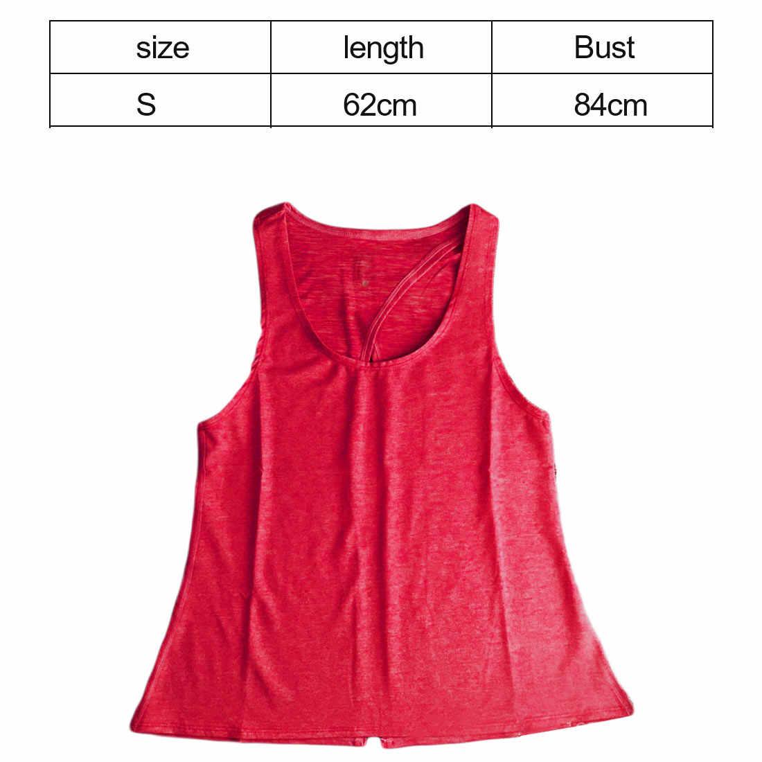 スポーツベストセクシーな女性ベストバック分割 Women'sCan で接続するバックストレッチトップスシャツ