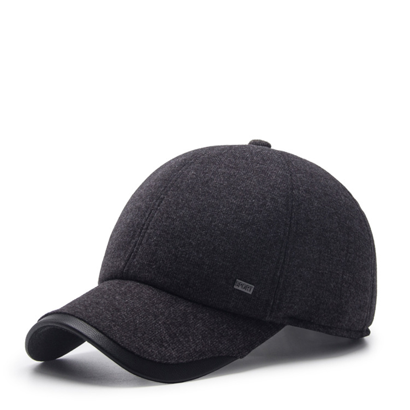 Men's autumn and winter   baseball     cap   middle-aged windproof ear   cap   fashion hat