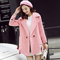 Autumn/winter 2016 latest paragraph cultivate one's morality grows in pure color long sleeve cloth coat coat   v369
