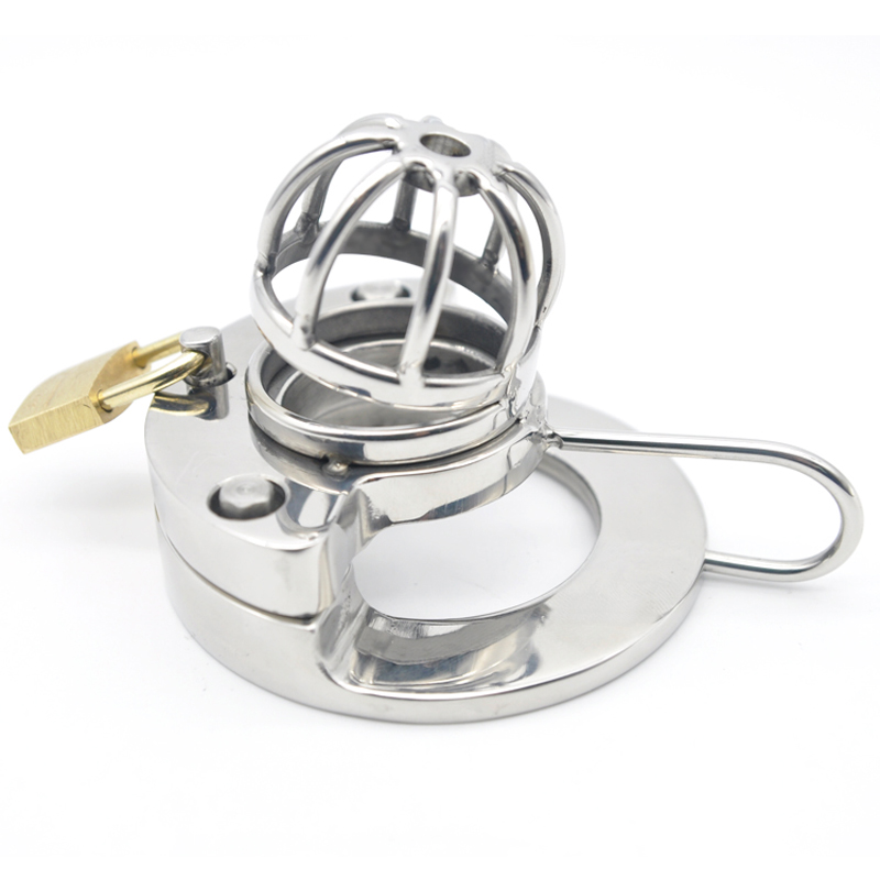 316L male chastity device stainless steel cock cage with 3 size cock ring Curved open type chastity cage penis sleeve sex toys