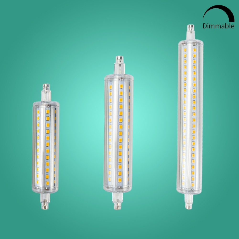R7S J78 J118 Led Bulb Corn Lamp Dimmable 78mm 118mm 135mm 189mm Replace Halogen 150W 500W Floodlight Spot Light AC 220V 110V high power dimmable 189mm led r7s light 50w cob r7s led lamp with cooling fan replace 500w halogen lamp