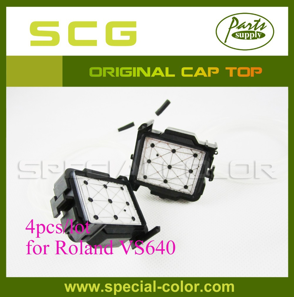 ФОТО 4pcs/lot Original Printer Cap Top VS640 Capping Station for Roland DX7 Solvent Inkjet Printer