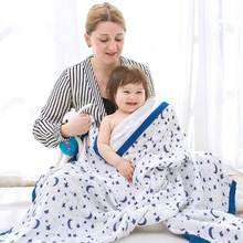 High Quality 120*120cm Bamboo Fiber Muslin Blanket Super Soft Baby Swaddle Wrap Stroller Cover Bath Towel Baby Receiving Blanket