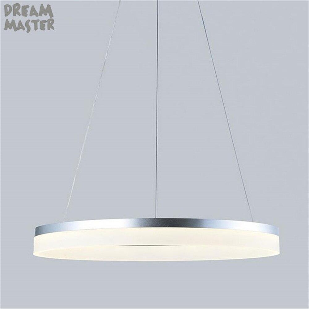 D20cm D40cm D60cm D80cm anneau pendentif lumières LED moderne luminaires avec abat-jour acrylique laiteux hanglampen pays industriel