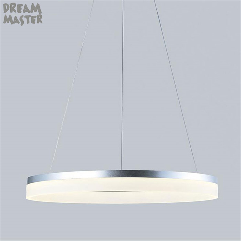D20cm D40cm D60cm D80cm ring Pendant Lights LED Modern Lamp Fixtures with Milky Acrylic Lampshade hanglampen industrieel country