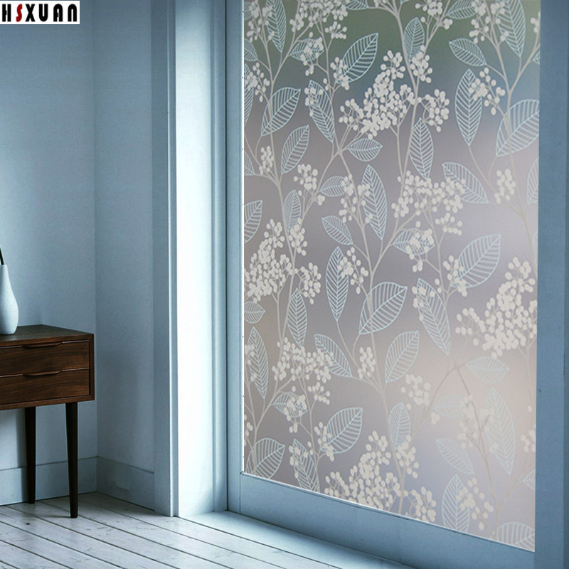 glue window film 90x100cm 3d white flower patterns bathroom home decor privacy glass