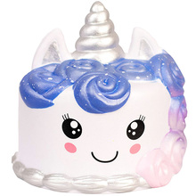 Jumbo Galaxy Unicorn Cake Squishy Simulation Sweet Scented Soft Squeeze Toys Decompression Slow Rising Fun Gift Toy for Children 3pcs jumbo squishy cub moon flying horse and antler cake toys