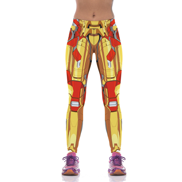 Iron Man 3D Print Leggings Fitness Women Workout Pants 22 Color Sexy Sporting Clothes Elastic High Waist Mallas Mujer Deportivas