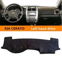 Movimentação da mão esquerda Car anti slip pad Mat tampa do painel para KIA CERATO Auto Sol Protetor para KIA CERATO 3 cores
