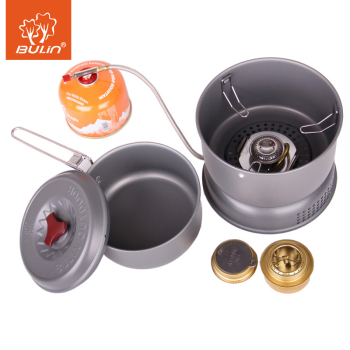 Outdoor Camping Picnic Foldable Split Gas Stove And Tablewares Cooking Bowl Pot Pan Cooker Set