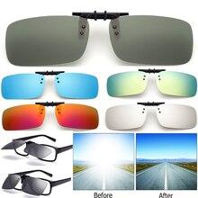 Крутые поляризованные зеркальные линзы UV400, клипсы на солнцезащитные очки для вождения, очки ночного видения, солнцезащитные очки для мужчин и женщин