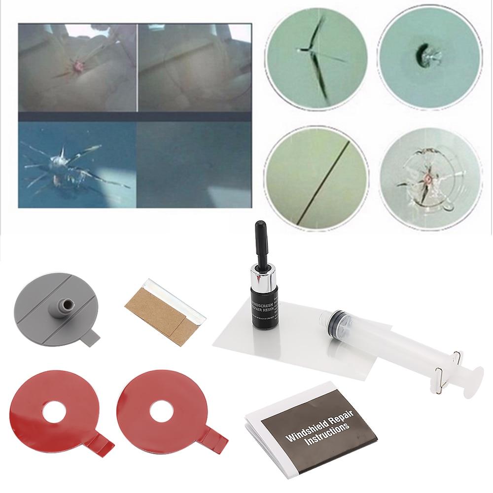 Car Window Repair: 2017 DIY Car Windshield Repair Kit Tools Auto Glass
