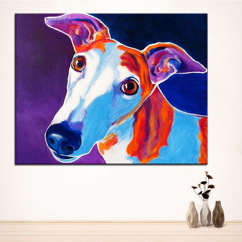 Large size Print Oil Painting greyhound halle Wall painting Home Decorative Wall Art Picture For Living Room paintng No Frame