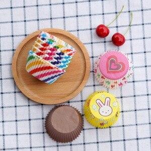 100 шт./упак. цветная кексовая бумага, поднос для выпечки кексов, инструменты для выпечки кексов, бумажная форма для кексов, мультяшный рисуно...