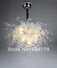 лучшая цена Free Shipping Italian White Crystal Blown Glass Wrought Iron Chandelier