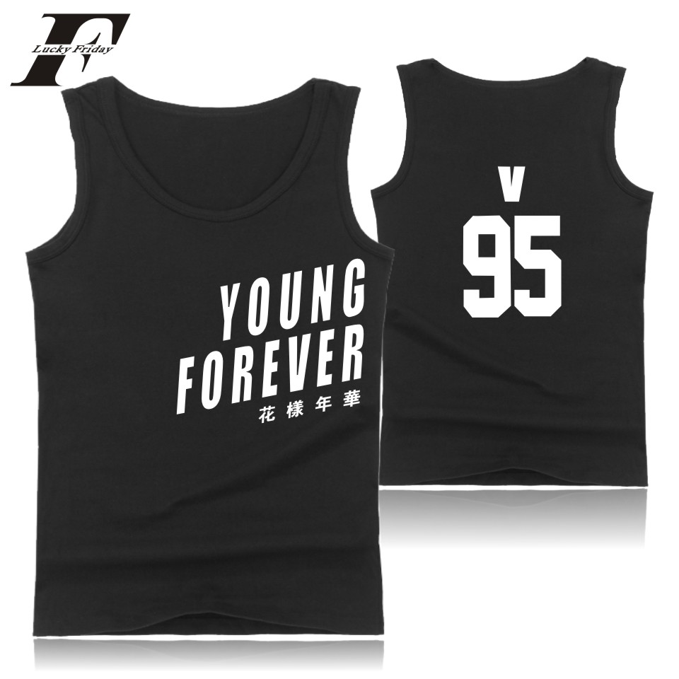 LUCKYFRIDAYF BTS Tank Top Wome Summer Sleeveless Fashion Bangtan Bodybuilding Tank Top Korean Popular Idol Team Fans Casual Vest ...