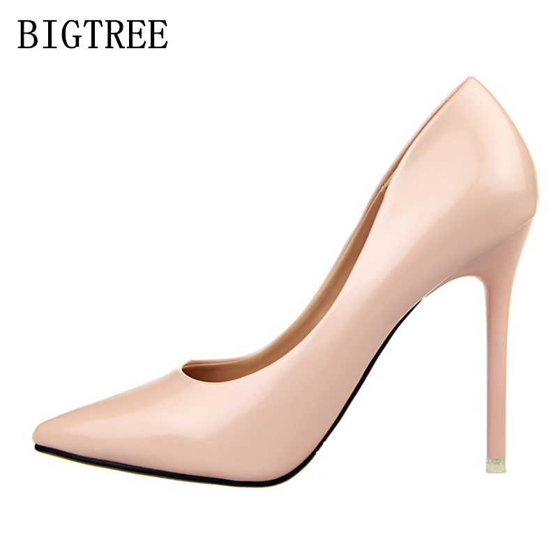 12 colors patent leather red high heels shoes women gothic sexy wedding shoes bride pink designer