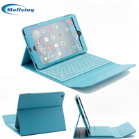 Mollsing Detachable Wireless Bluetooth Keyboard For IPad Pro 9 7 Inch Silicone PU Leather Protective Cover