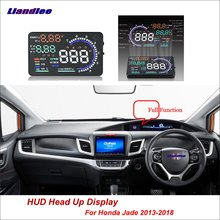 Liandlee Full Function Car HUD Head Up Display For Honda Jade 2013-2018 Safe Driving Screen OBD Speedometer Projector Windshield