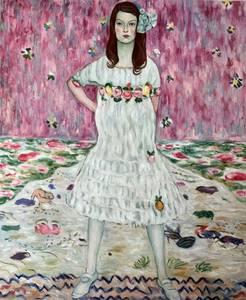 Высокое качество картина маслом холст репродукции портрет Мада примавеси картина Густава Климта ручная роспись