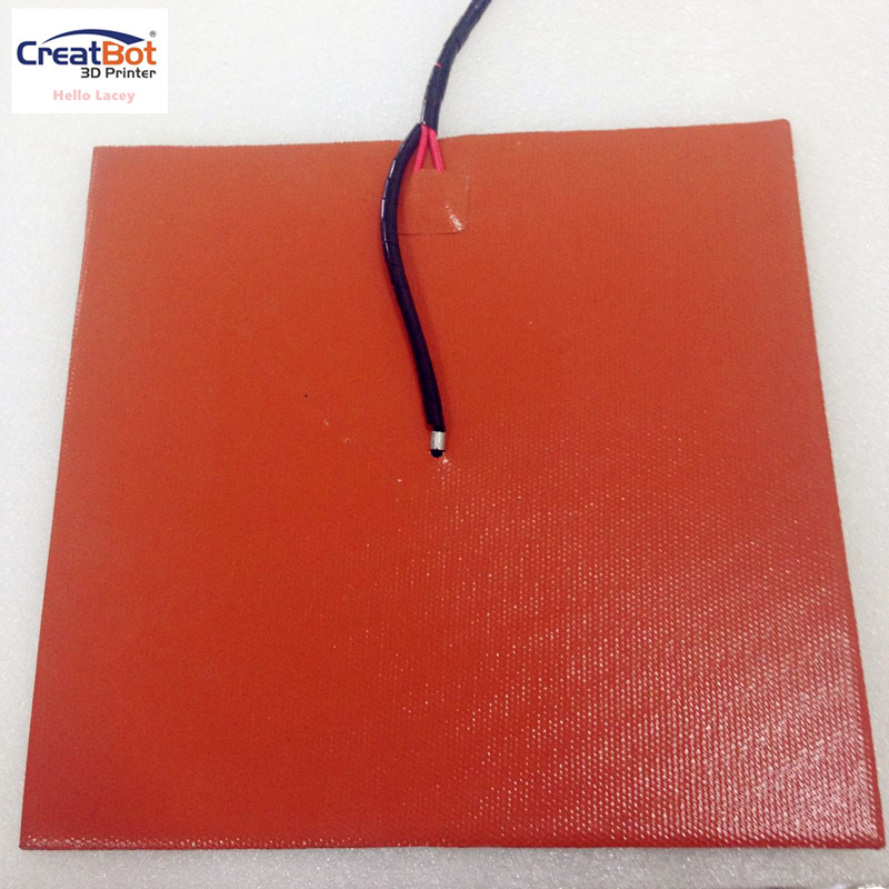 Heating Pad Silicone rubber heating plate with 3M glue 3d printer heat bed/ heater CreatBot 3d printer accessories Orange